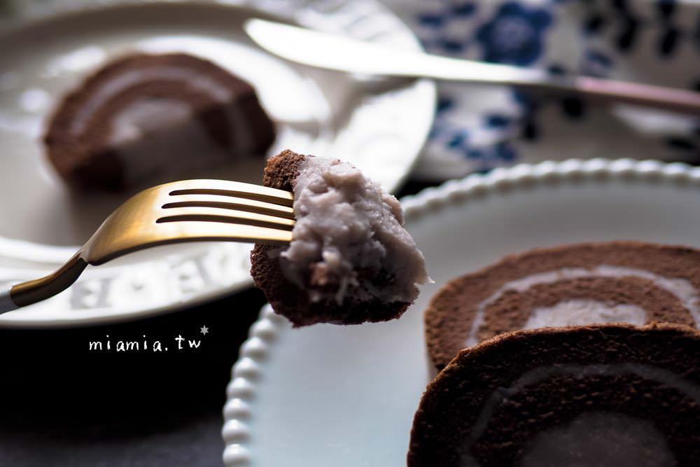 巧克力可可芋泥蛋糕捲食譜做法作法