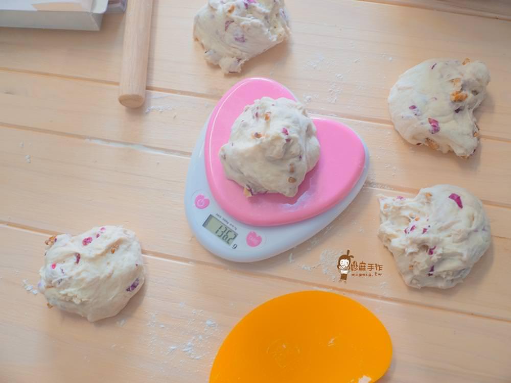 玫瑰核果麵包 EUPA小紅攪拌機 食譜 烘焙 法國麵粉 老麵 燦坤快3 妙麻手作 影音食譜 堅果