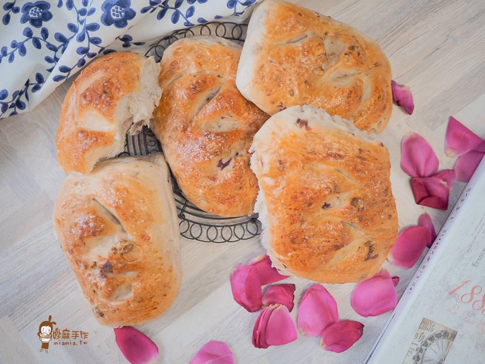 玫瑰核果麵包 EUPA小紅攪拌機 食譜 烘焙 法國麵粉 老麵 燦坤快3 妙麻手作 影音食譜