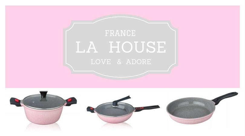 LA HOUSE 來自法國的火山岩塗層萬用炒鍋,可拆卸握柄讓鍋子也能變身成為烤模!!